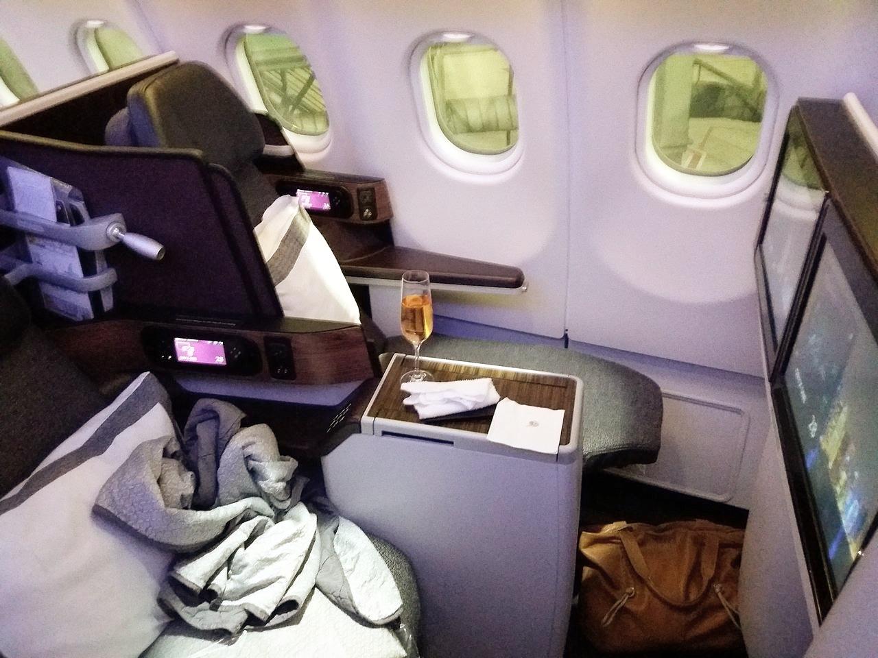 długi lot samolotem