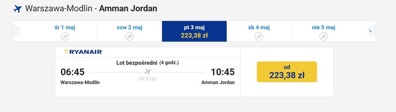 jak się dostać do Jordanii